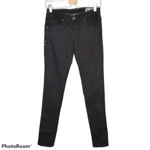 DC Black Skinny Legging Denim Stretch Jeans 26